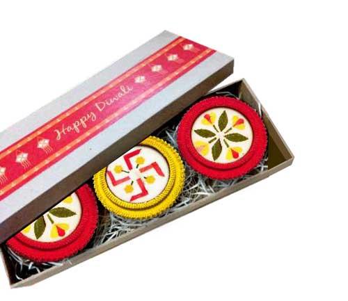 Chakra Diya Gift Box (set of 3 diya)